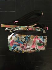 """LeSPORTSAC Artist in Residence """"Wave of Experience"""" print Crossbody Purse HTF"""
