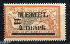 Memel 4mark/2fr. Aufdruck 1920** Fehler Michel 31 I y PF I a geprüft (S5938)