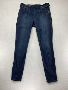 Gap 1969 Jeans Size 27/4 Always Skinny Dark Wash Side Zip Women's Blue Denim