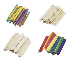 Rayher Bastelhölzer, Eisstiele, Spatel, Holzstäbchen 150 x 20 oder 110 x 10 mm