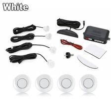 White 4 Parking Sensor Kit Radar Car Parking Reverse Buzzer Aid Kit Radar Backup