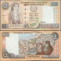 Cipro Banconota 1 Lira. 01.04.2004 Carta FdS. Cat# P.60d