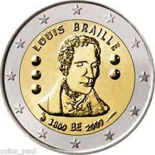 Belgium Belgio 2 euro 2009 Louis Braille 200th Anniversary of Birth KM# 288 UNC