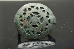 Roman Bronze Openwork Fibulla Brooch   3rd A.D