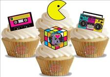12 Novelty I Love The 80s Mix Edible Cupcake Cake Toppers Decorations Eighties