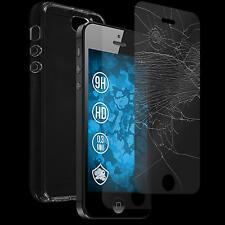 Silikon Hülle für Apple iPhone SE Crystal Clear transparent + Glasfolie