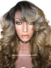 Darling Dark Root Mixed blondes Body curl lace front wig Lace wig blonde  wig