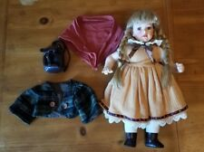 "Porcelain Doll (Face Feet & Hands) Classic German Dress 18"" (40.64cm)"