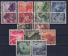 Österreich 1935 - Flugpostserie, Nr. 598 - 612, gestempelt