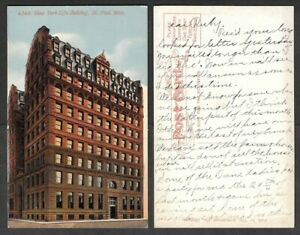 Old Minnesota Postcard - St. Paul - New York Life Insurance Building