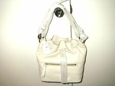 New Fossil ZB6450105 Vickery Leather Drawstring Handbag - Bone