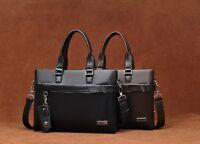 """Men's Genuine Leather Handbag Messenger Shoulder Briefcase Laptop Bag Purse 14"""""""