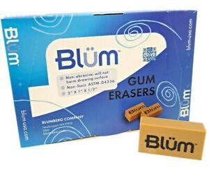 BLUM ART GUM ERASER x12 - removes pencil from books and paper - SLIGHT SECOND