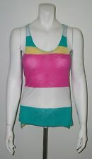 MULTI-COLORED STRIPED TANK TOP WITH KEY HOLE BACK NEW WITHOUT TAGS SIZE SMALL