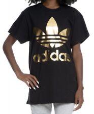 2c932699ff7 Adidas Women's Big Trefoil Tee Oversized Black Gold Size XS