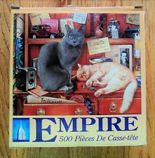 """CATS Anna & Ted EMPIRE Jigsaw Puzzle 500 Pc  Complete 16"""" x 20"""""""