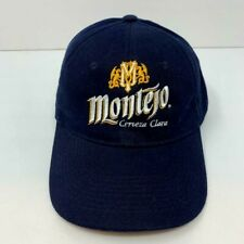 Montejo Cerveza Clara Hook and Loop Adjustable Strap Navy Blue Cap OSFA