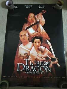 Martial Arts Poster Motivational Bruce Lee French Tigre & Dragon Crouching Tiger