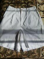 Talbots Walking WHITE Bermuda 100% Cotton Women's SHORTS NICE! EUC! SIZE 8 NWOT!