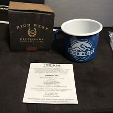 2017 High West Distillery Mug Whiskey Club Member Cup Bourbon Blue RARE