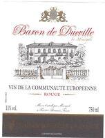 Etiquette de vin - Wine Label - Baron de Ducville