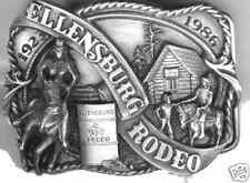 1986 Ellensburg Rodeo Commemorative Belt Buckle