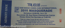 SDCC True Blood San Diego Comic Con 2011 Masquerade Admit One Ticket unusednew