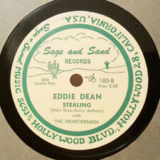 EDDIE DEAN Stealing/I Dreamed Of A Hill-Billy Heaven SAGE AND SAND E+ Country 78