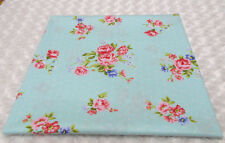Blue with white Dot and Pink Flower Cotton Fabric 160x100cm,tablecloth, bedding