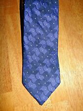 VALENTINO -ITALY SMART ELEGANT PLAIN/SPOTTED PATTENED WOVEN SILK TIE