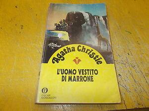 AGATHA CHRISTIE:L'UOMO VESTITO DI MARRONE.OSCAR GIALLI MONDADORI 1306/70.1981+ok