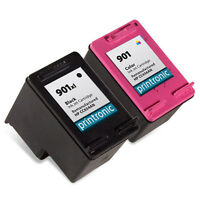 2-Pack compatible for HP 901XL black and hp 901 color