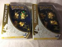 POKEMON 025 PIKACHU 20TH ANNIVERSARY SET OF 2 4 PACK MINI FIGURES NEW NRFB MIB