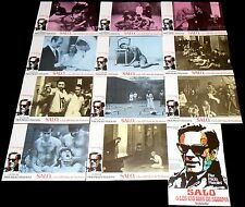 1975 Salò, or the 120 Days of Sodom ORIGINAL LOBBY CARD SET Pier Paolo Pasolini