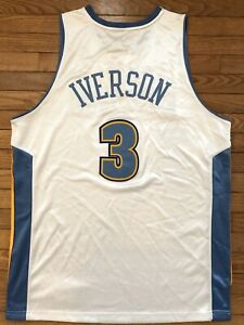 Rare Authentic 2006 Adidas Jersey Nuggets 76ers Sixers Allen Iverson Size 44 New