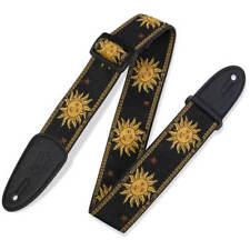Levy's 2 Inch Sun Design Jacquard Weave Guitar Strap - Black