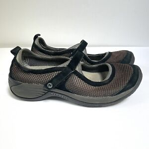 Merrell 11 Encore Strap Black Shoes Mesh Hiking Athletic Hook And Loop Mary Jane