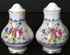 Vintage Royal Albert Petit Point Salt And Pepper Shakers