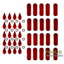 Red 20 Aluminum 12X1.5 Extended Spike Lug Nuts for Mazda Honda