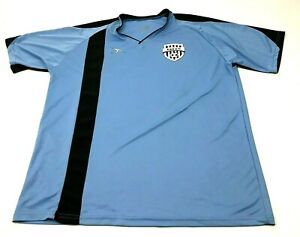 Score Eagle Mountain Youth Soccer Jersey Size 2XL XXL Blue Dry Fit Shirt Vneck