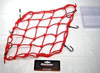 BikeMaster Bike Master Motorcycle ATV Universal Red Cargo Stretch Net Tie Down