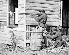 1864 Civil War BLACK SOLDIERS Vintage 8x10 Photo Military Print Dutch Gap, VA