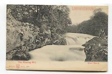 Glen Nevis, Invernesshire - old hold-to-the-light postcard - The Roaring Mill