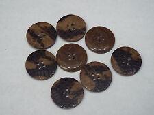 8pc 15mm marrón imitación piel de reptil Cardigan Pantalón Camisa Niño Bebé botón 0297