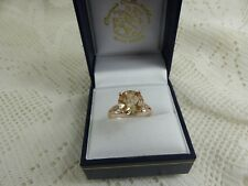 9ct 9carat Rose Gold Galileia Topaz Solitaire Ring Size Q