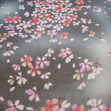 BLACK GRAY CLOUD FLOWERS PRINTED CHIFFON 100% POLYESTER 58 INCH WIDE FABRIC BTY
