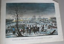 4- ANCIENNE GRAVURE ESTAMPE EMBARQUEMENT ANGLAIS HOLLANDE 1799 J. COUCHE XIX EME
