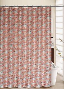 "Waverly, 70""x72"" Beach Social Flamingo Pattern Shower Curtain + 12 Rings Set"