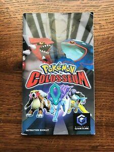 Pokemon Colosseum Nintendo Gamecube Instruction Manual Only