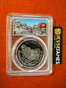 1991 S $1 PROOF SILVER MOUNT RUSHMORE DOLLAR PCGS PR69 DONALD TRUMP MAGA LABEL